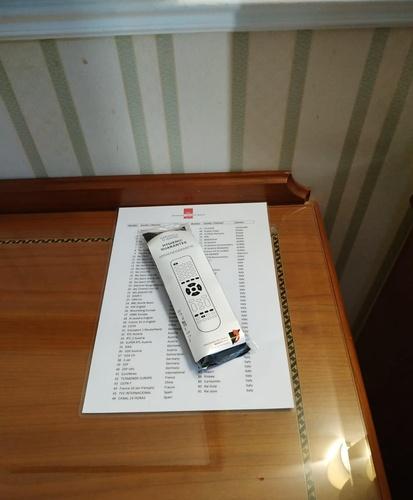 Tv remote control marconi hotel mailand